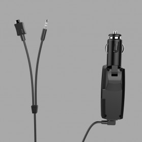 FM Transmitters Handsfree Mobil 3.5mm dengan Kabel Micro USB 2.1A - BT688 - Black - 7