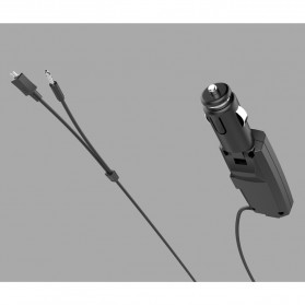 FM Transmitters Handsfree Mobil 3.5mm dengan Kabel Micro USB 2.1A - BT688 - Black - 8