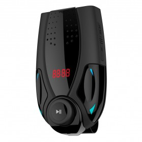 Clip Bluetooth FM Transmitters Handsfree Mobil 3.5mm - BT69 - Black - 2