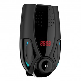 Clip Bluetooth FM Transmitters Handsfree Mobil 3.5mm - BT69 - Black - 3