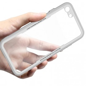 Tempered Glass Case 0.7mm for iPhone 7/8 - White