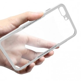Tempered Glass Case 0.7mm for iPhone 7Plus/8Plus - White