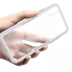 Tempered Glass Case 0.7mm for iPhone X - White