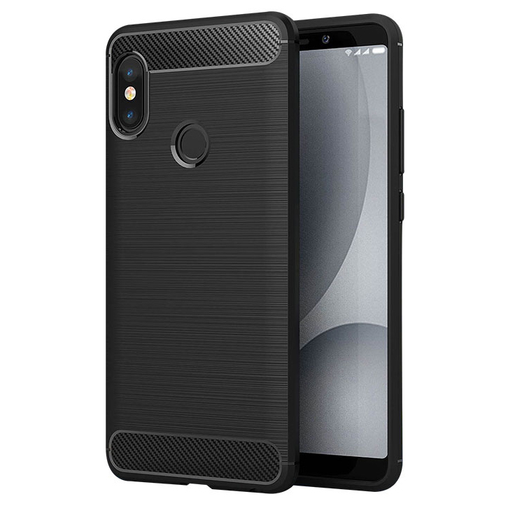 ... Silicone Armor Bumper Softcase Carbon Fiber for Xiaomi Redmi Note 5 Pro  - Black - 1 ... ba5f43ab0b