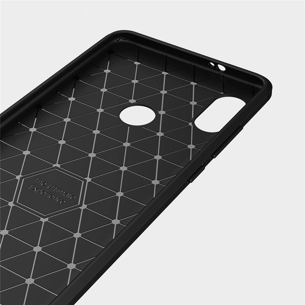 Silicone Armor Bumper Softcase Carbon Fiber For Xiaomi Redmi Note 5 Case Pro Kickstand Series Black 6