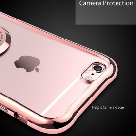 Electroplating TPU Softcase with Kickstand for iPhone 7/8 - Black - 5