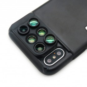 Lens Case 6 in 1 Fisheye Macro Wide Angle for iPhone X - Black - 5