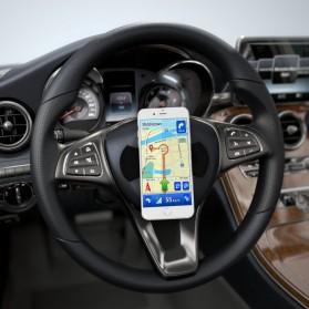 FLOURISH Holder Smartphone Nano Adhesive Sticky Rubber Pad - HHY - Black - 7