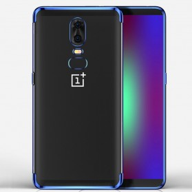 Softcase Silicone Laser Plating for OnePlus 6 - Blue - 1