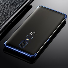 Softcase Silicone Laser Plating for OnePlus 6 - Blue - 3
