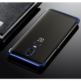 Softcase Silicone Laser Plating for OnePlus 6 - Blue - 6