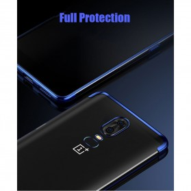 Softcase Silicone Laser Plating for OnePlus 6 - Blue - 7