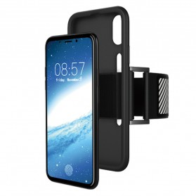 Sports Silicone Armband Case for iPhone X - Black - 1