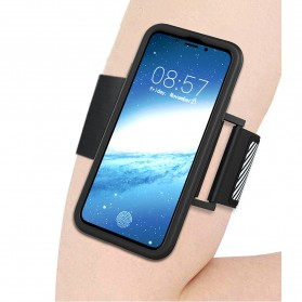 Sports Silicone Armband Case for iPhone X - Black - 2