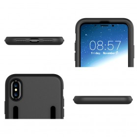 Sports Silicone Armband Case for iPhone X - Black - 4