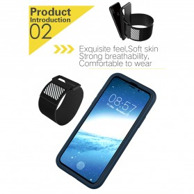 Sports Silicone Armband Case for iPhone X - Black - 8