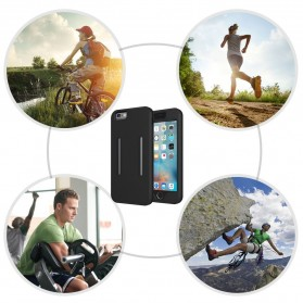 Sports Silicone Armband Case for iPhone X - Black - 10