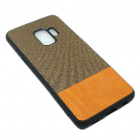 Fabric Hardcase for Samsung Galaxy S9 - Brown - 1