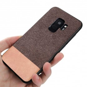 Fabric Hardcase for Samsung Galaxy S9 - Brown - 3