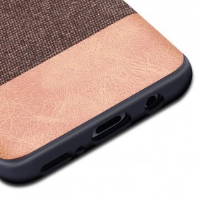 Fabric Hardcase for Samsung Galaxy S9 - Brown - 4