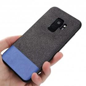 Fabric Hardcase for Samsung Galaxy S9 - Blue - 3
