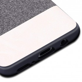 Fabric Hardcase for Samsung Galaxy S9 Plus - White - 5