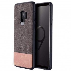 Fabric Hardcase for Samsung Galaxy S9 Plus - Brown - 2