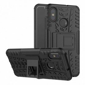 2 in 1 Hardcase Back Stand Double Protection for Xiaomi Mi 8 - Black