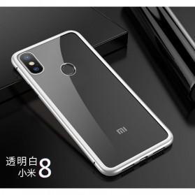 Tempered Glass Case for Xiaomi Mi 8 - White