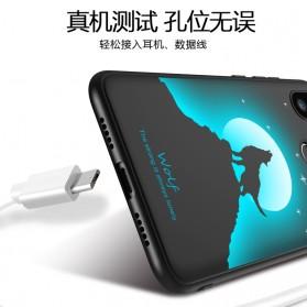 TPU Case Luminous Glow In The Dark for Xiaomi Mi 8 SE - Model Deer - Black - 4