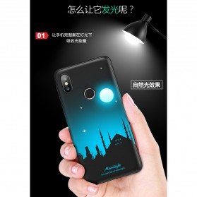 TPU Case Luminous Glow In The Dark for Xiaomi Mi 8 SE - Model Wolves - Black - 5