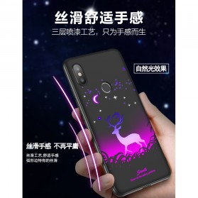 TPU Case Luminous Glow In The Dark for Xiaomi Mi 8 SE - Model Wolves - Black - 7