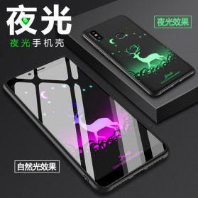 TPU Case Luminous Glow In The Dark for Xiaomi Mi 8 SE - Model Wolves - Black - 9