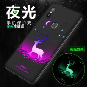 TPU Case Luminous Glow In The Dark for Xiaomi Mi 8 SE - Model Wolves - Black - 10