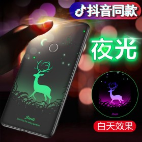 TPU Case Luminous Glow In The Dark for Xiaomi Mi 8 - Model Deer - Black - 2