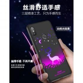 TPU Case Luminous Glow In The Dark for Xiaomi Mi 8 - Model Deer - Black - 7