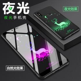 TPU Case Luminous Glow In The Dark for Xiaomi Mi 8 - Model Deer - Black - 9