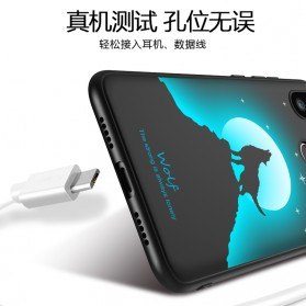 TPU Case Luminous Glow In The Dark for iPhone 7 Plus / 8 Plus - Model Wolves - Black - 4