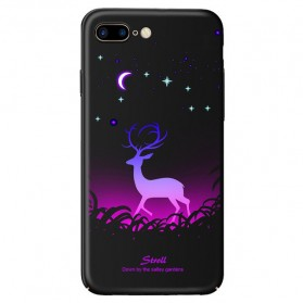 TPU Case Luminous Glow In The Dark for iPhone 7 Plus / 8 Plus - Model Deer - Black