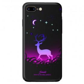 TPU Case Luminous Glow In The Dark for iPhone 7 Plus / 8 Plus - Model Deer - Black - 1