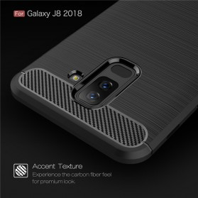 Carbon Fiber TPU Softcase for Samsung Galaxy J8 2018 - Black - 2