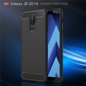 Carbon Fiber TPU Softcase for Samsung Galaxy J8 2018 - Black - 8