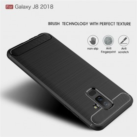 Carbon Fiber TPU Softcase for Samsung Galaxy J8 2018 - Black - 9