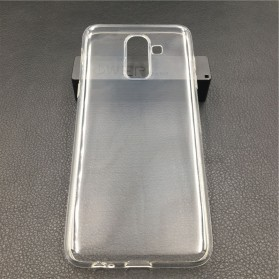 Ultra Thin TPU Case for Samsung Galaxy J8 2018 - Transparent - 1