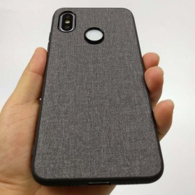 Fabric TPU Softcase for Xiaomi Mi Max 3 - Black - 8