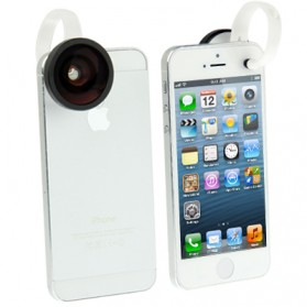Fisheye Wide Angle Lens 180 Degree for iPhone 5/5s/SE - Black