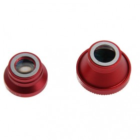 Fisheye Wide Angle Lens 180 Degree + Detachable 0.67X Wide and Macro Lens for iPhone 4 & 4S / Mobile Phone / Digital Camera (Lens below Dia. 13mm) - Red - 3