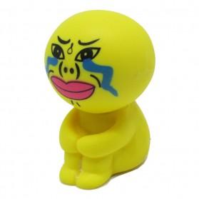 Sucker Stand Cartoon Style Holder for Smartphone - Yellow