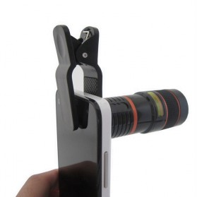 Lesung TX-801 Universal Clip Mobile Phone Telescope Lens 8X Optical Zoom - Black - 4