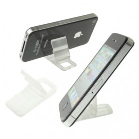Stand Holder Plastik untuk iPhone 4/4s/Smartphone - Blue